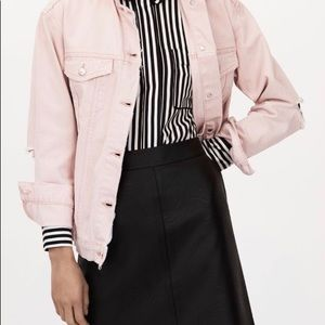 Top Shop Oversized Pink Denim Jacket